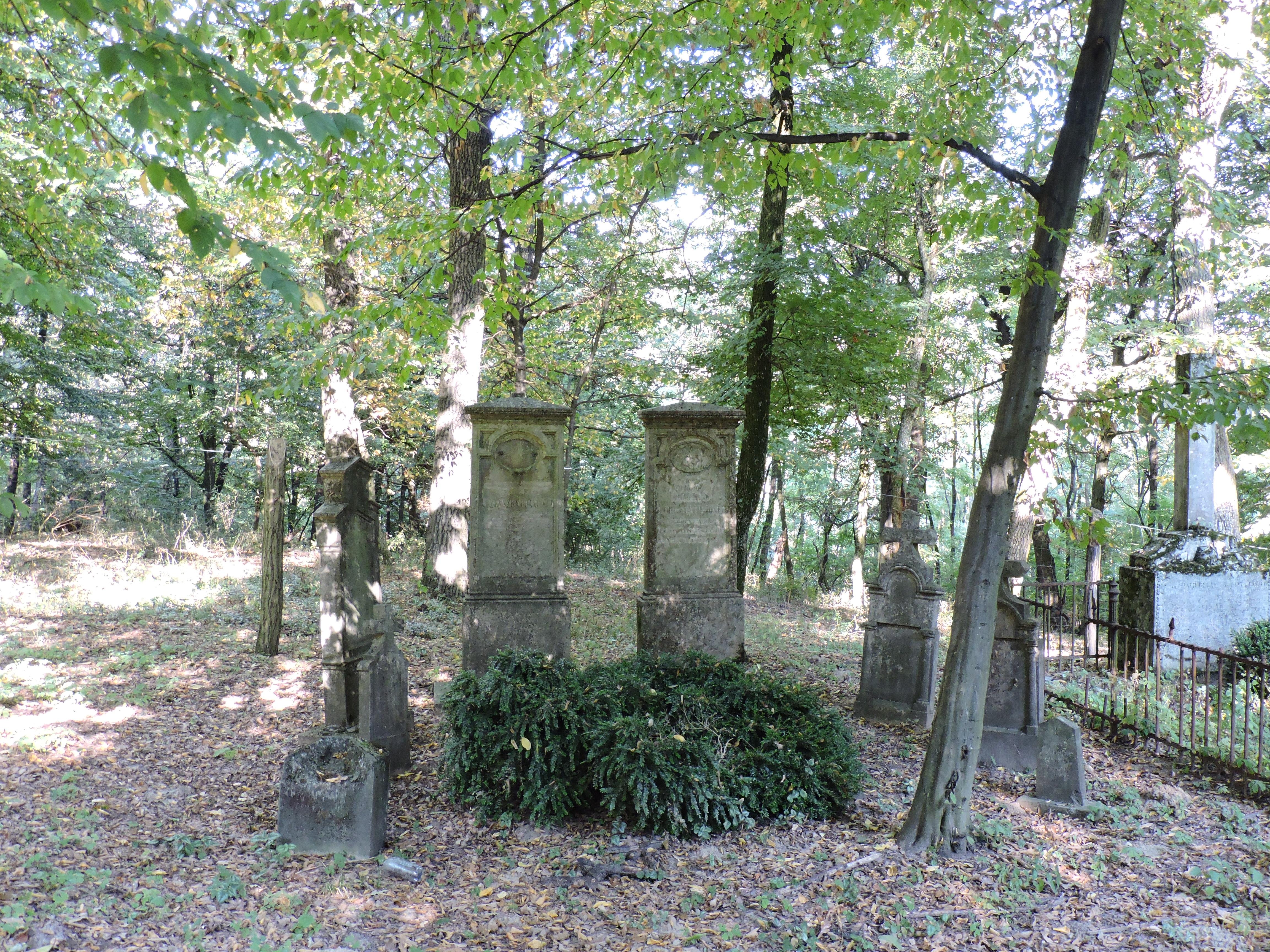 A Fiath család kriptája a faluszéli erdőben.